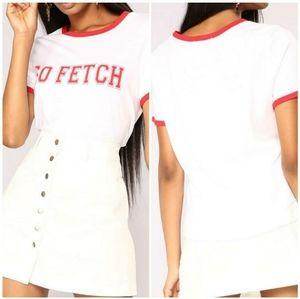 So Fetch Tee / White 🤍